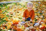 jesienny spacer z niemowlakiem